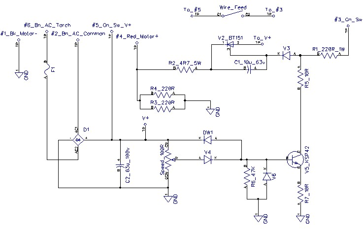 CS 100 harbor freight 98871 90 amp flux core welder Welder Circuit Diagram at bakdesigns.co